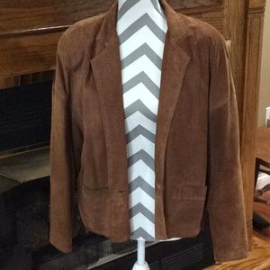 Talbots Genuine leather suede jacket.